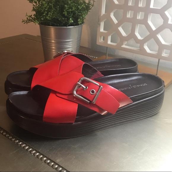 Donald J. Pliner Shoes - DONALD J. PLINER RED WEDGE SANDAL